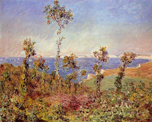 пейзажи - побережье < Варенжевилль >:: Клод Моне, описание картины - Моне Клод (Claude Monet) фото