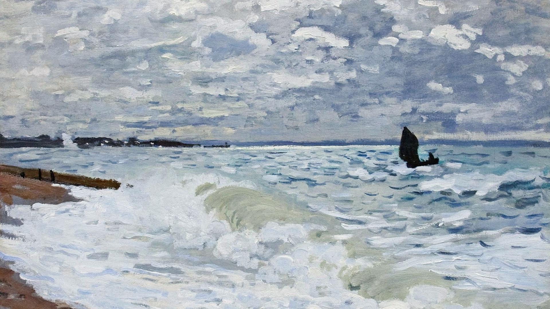 """пейзаж """"Море в Сен-Адрес"""" :: Клод Моне, описание картины - Море в живописи ( морские пейзажи, seascapes ) фото"""