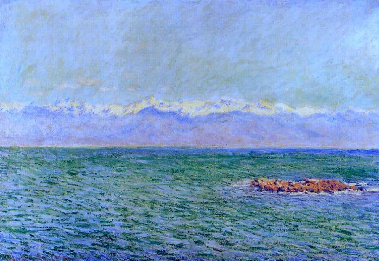 морские пейзажи < Море и Альпы  >:: Клод Моне, описание картины - Море в живописи ( морские пейзажи, seascapes ) фото