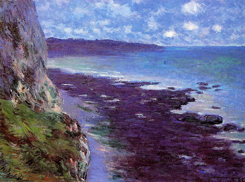 скалы и море < Скала близ Дьеппа >:: Клод Моне, описание картины - Claude Monet фото
