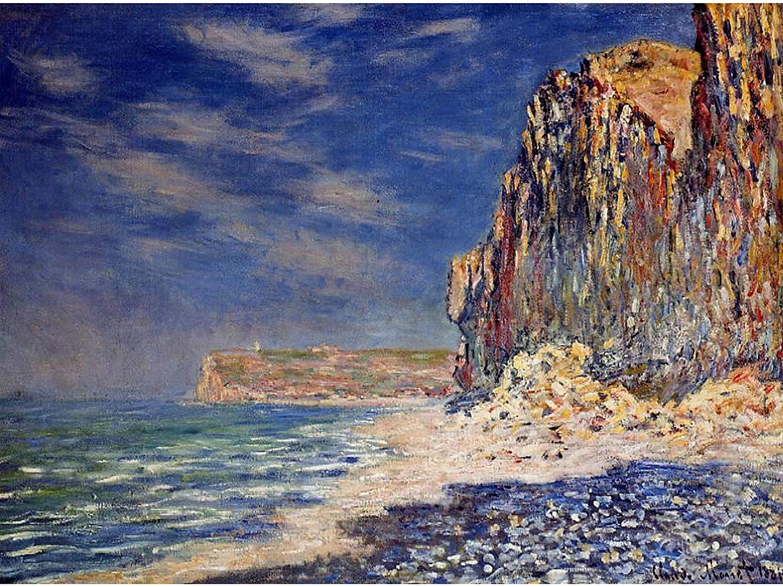 скалы и море < Скала близ Фекама >:: Клод Моне, описание картины - Claude Monet фото