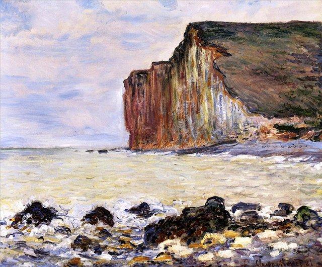 скалы и море < Скалы Пти-Далль >:: Клод Моне, описание картины - Моне Клод (Claude Monet) фото