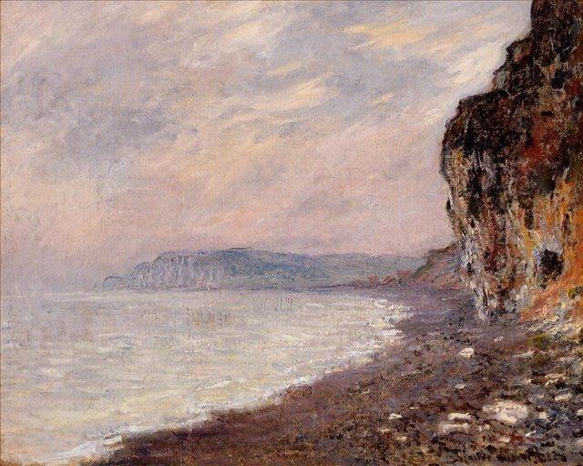 Скалы в тумане, Пурвилль :: Клод Моне, описание картины - Claude Monet фото