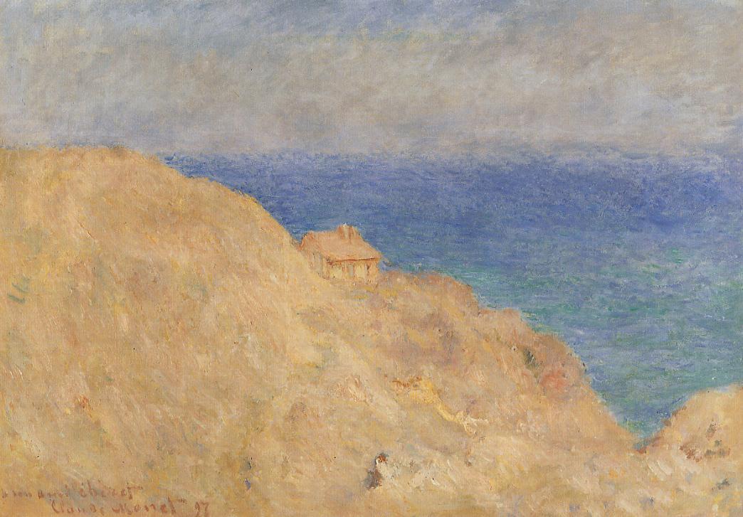 скалы и море < Будка береговой охраны >:: Клод Моне, описание картины - Claude Monet фото