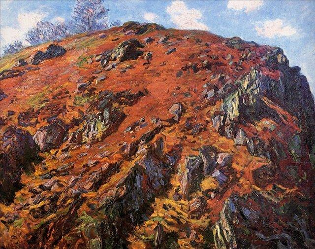 скалы и море < Штудия камней >:: Клод Моне, описание картины - Моне Клод (Claude Monet) фото