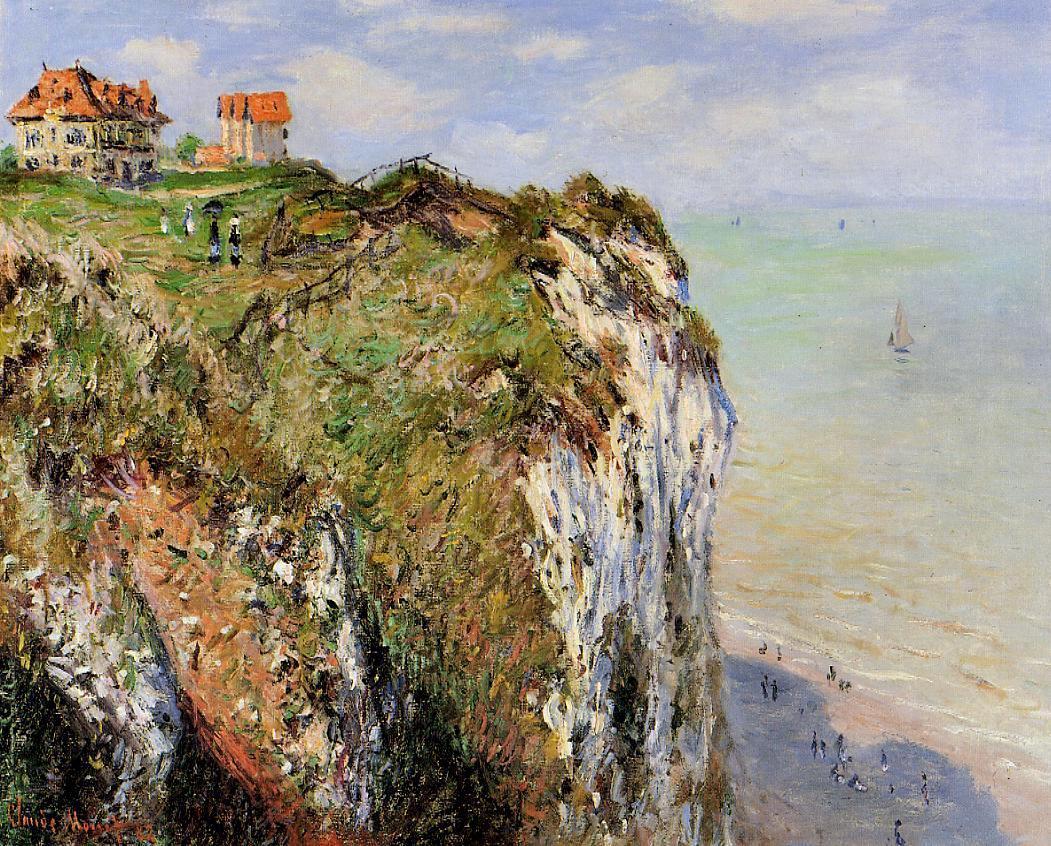 скалы и море < Скала в Дьеппе >:: Клод Моне, описание картины - Claude Monet фото