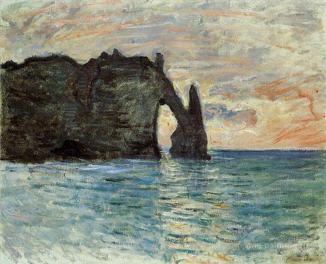 скалы и море < Скала в Этрете >:: Клод Моне, описание картины, плюс статья про подарки  и всё что связано - багет, рамы, условия хранения - Моне Клод (Claude Monet) фото