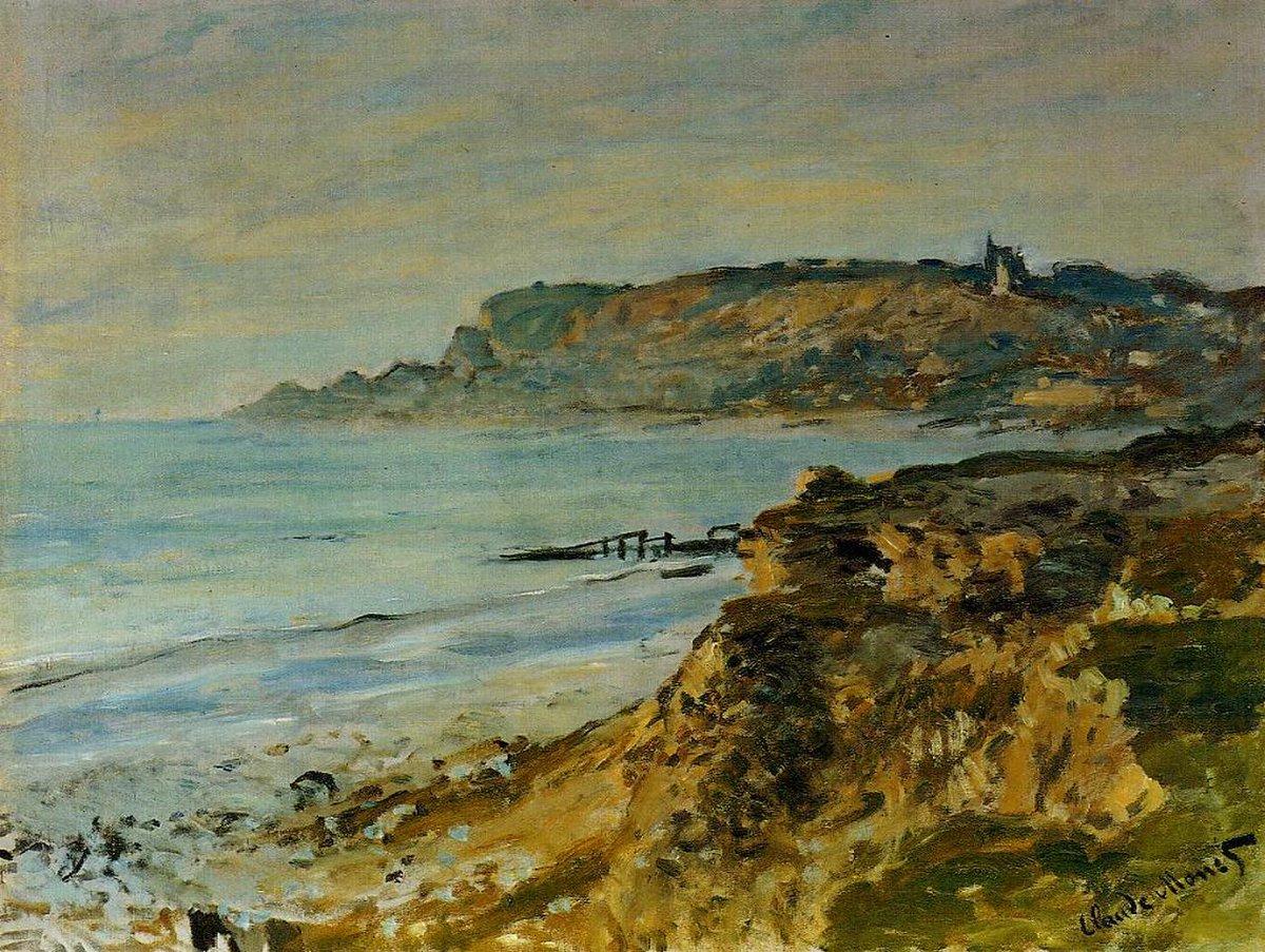 скалы и море < Скала в Сен-Андре >:: Клод Моне, описание картины - Claude Monet фото