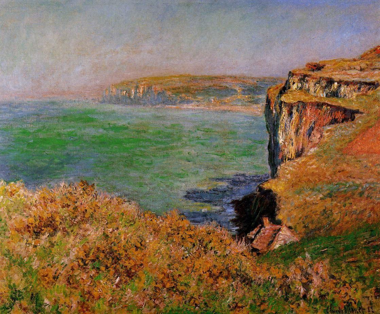скалы и море < Скала в Варенживилле >:: Клод Моне, описание картины - Claude Monet фото