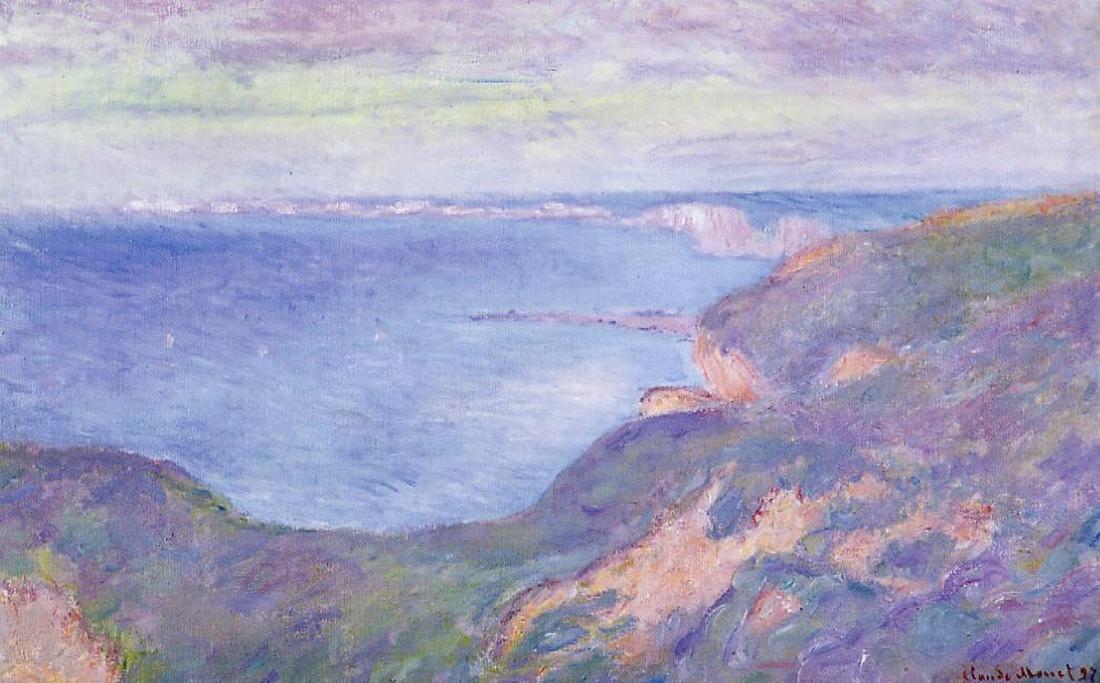 скалы и море < Скала близ Дьеппа >:: Клод Моне, описание картины - Моне Клод (Claude Monet) фото