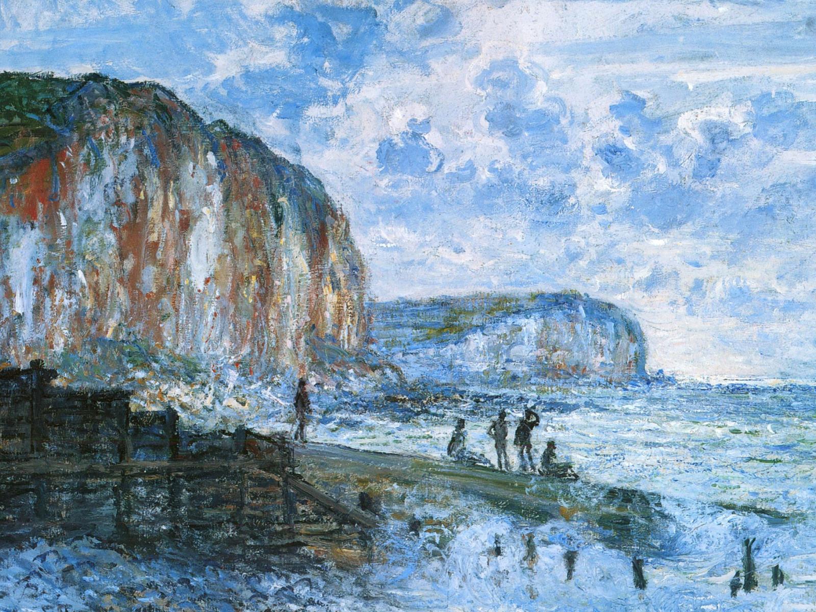 скалы и море < Скалы Пти-Далле >:: Клод Моне, описание картины - Claude Monet фото