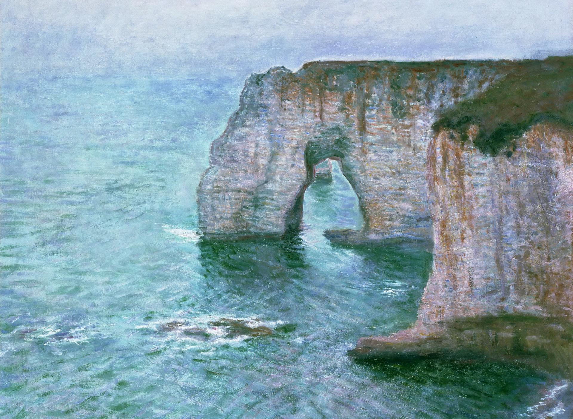 скалы и море < Маннепорт, вид с востока >:: Клод Моне, описание картины - Claude Monet фото