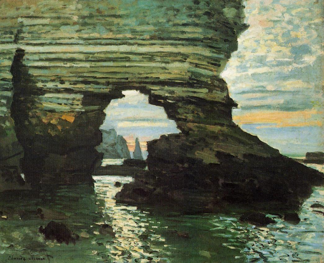 скалы и море < Порт д'Амон >:: Клод Моне, описание картины - Моне Клод (Claude Monet) фото