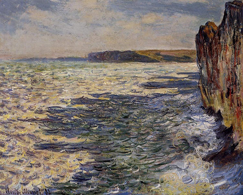 скалы и море < Волны и камни, Пурвилль >:: Клод Моне, описание картины - Моне Клод (Claude Monet) фото