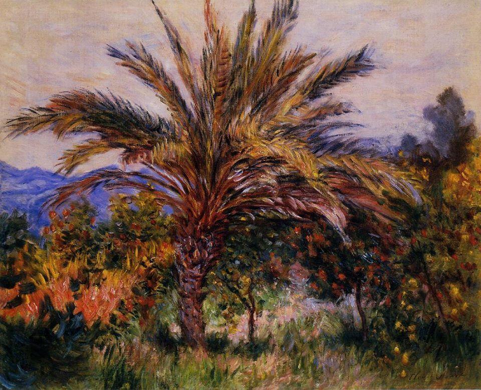 южные пейзажи < Пальмы >:: Клод Моне, описание картины - Claude Monet фото