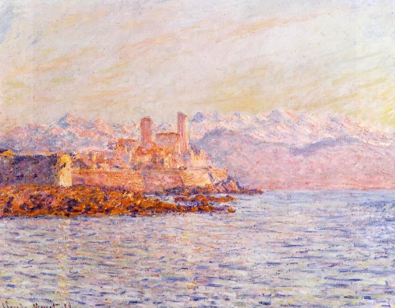 южные пейзажи < Антиб >:: Клод Моне, описание картины - Claude Monet фото