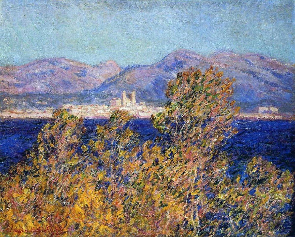 южные пейзажи < Антиб, ветер мистраль >:: Клод Моне, описание картины - Claude Monet фото