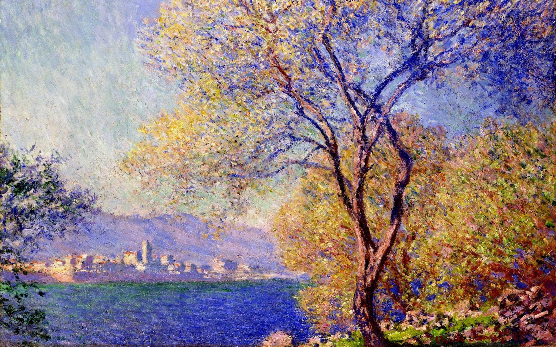 южные пейзажи < Антиб, вид из садов Салис >:: Клод Моне, описание картины - Моне Клод (Claude Monet) фото