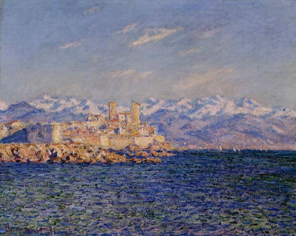 южные пейзажи < Антиб, полдень >:: Клод Моне, описание картины - Моне Клод (Claude Monet) фото