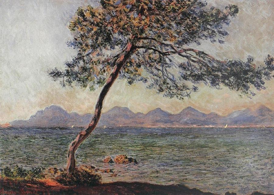 южные пейзажи < Мыс Антиба >:: Клод Моне, описание картины - Claude Monet фото