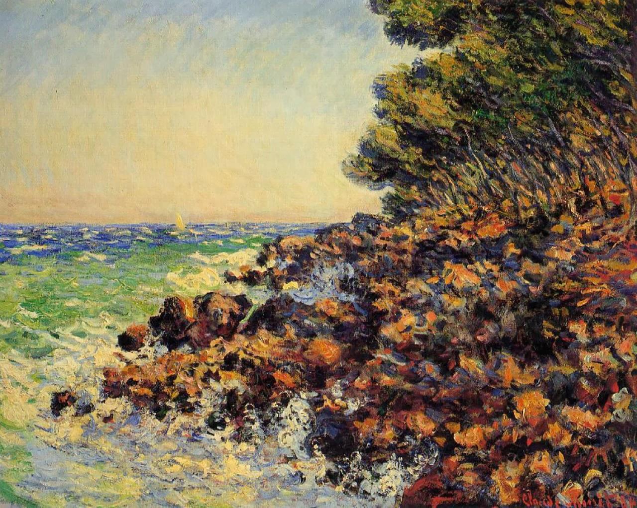 южные пейзажи < Мыс Мартин >:: Клод Моне, описание картины - Моне Клод (Claude Monet) фото