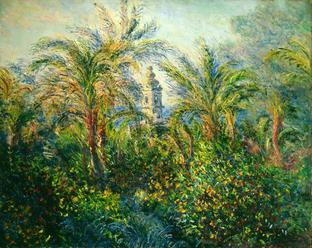 южные пейзажи < Сад в Бордигере, утро >:: Клод Моне, описание картины - Claude Monet фото