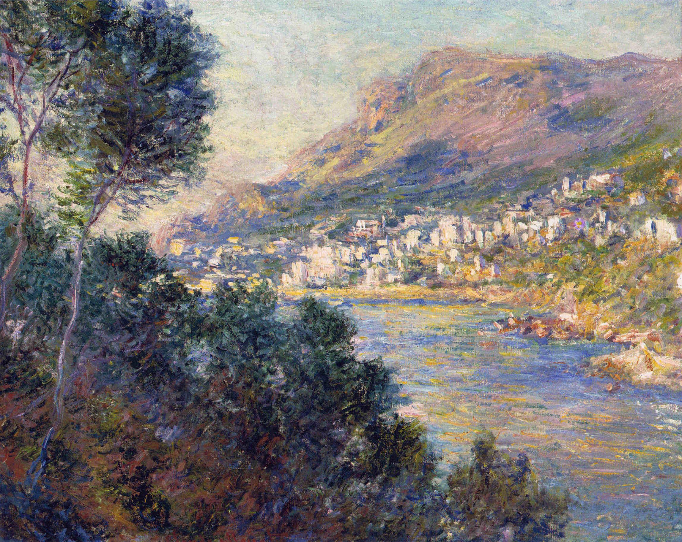 южные пейзажи < Монте-Карло, вид из Рокебруна >:: Клод Моне, описание картины - Claude Monet фото