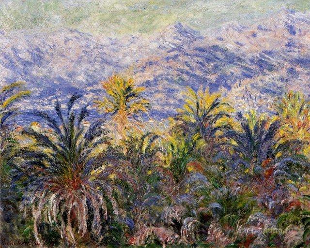 южные пейзажи < Пальмы в Бордигере >:: Клод Моне, описание картины - Моне Клод (Claude Monet) фото