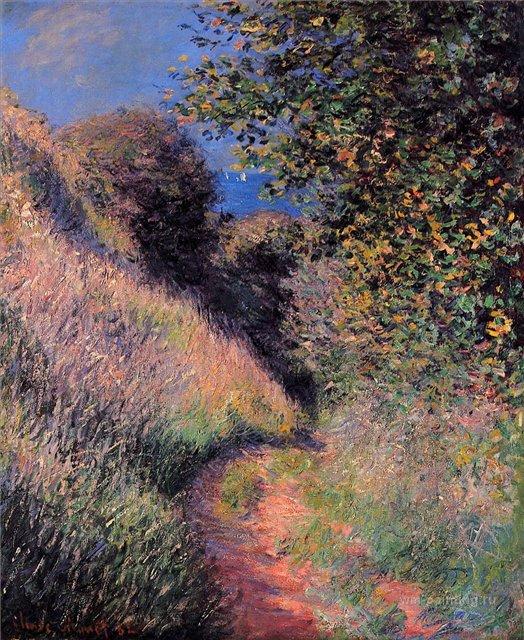 южные пейзажи < Тропа в Пурвилле >:: Клод Моне, описание картины - Claude Monet фото