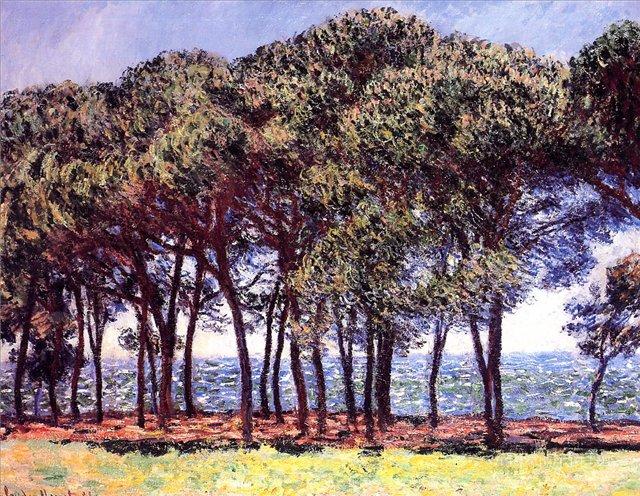 южные пейзажи < Сосны, мыс Антиба >:: Клод Моне, описание картины - Claude Monet фото