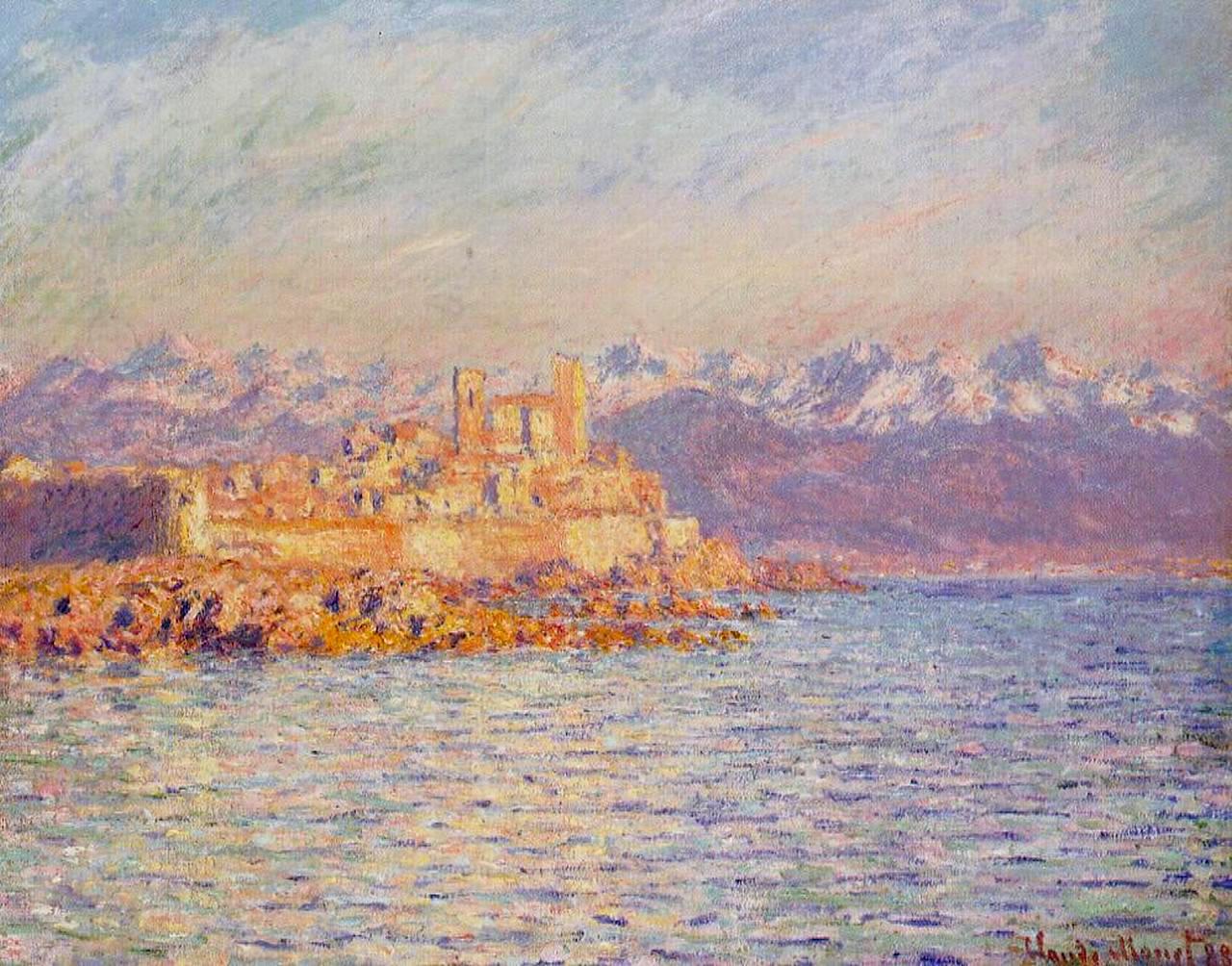 южные пейзажи < Бухта Антиба >:: Клод Моне, описание картины - Claude Monet фото