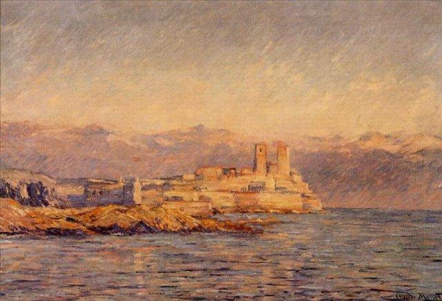 южные пейзажи < Замок в Антибе >:: Клод Моне, описание картины - Claude Monet фото
