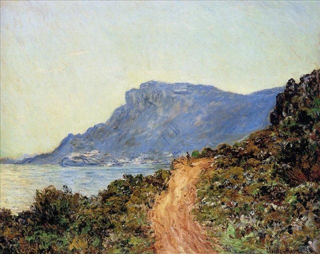 южные пейзажи < Горная дорога в Монако >:: Клод Моне, описание картины - Claude Monet фото