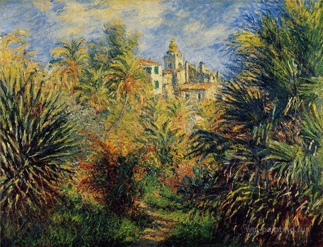 южные пейзажи < Сад Морено в Бордигере >:: Клод Моне, описание картины - Claude Monet фото