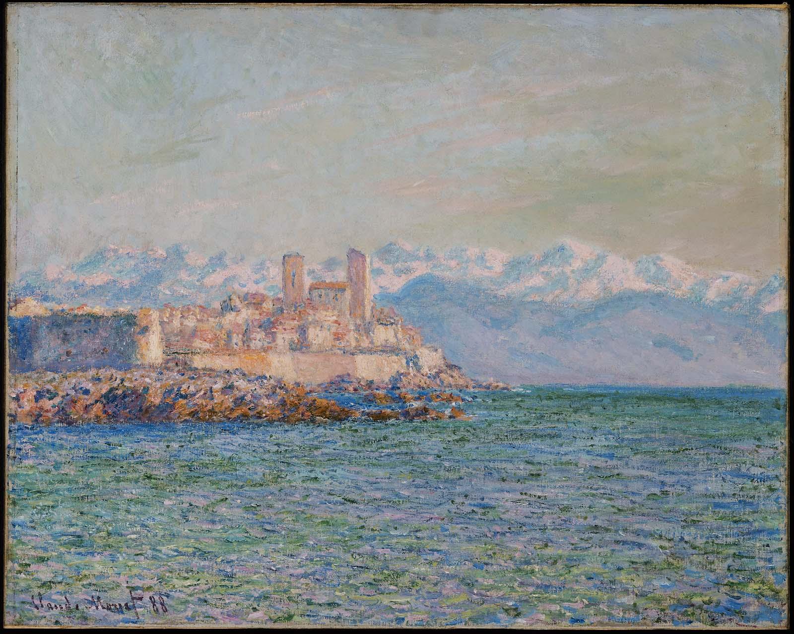южные пейзажи < Старый форт в Антибе >:: Клод Моне, описание картины - Claude Monet фото
