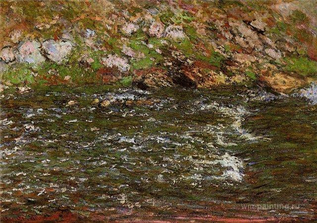 южные пейзажи < Стремительный поток >:: Клод Моне, описание картины - Claude Monet фото