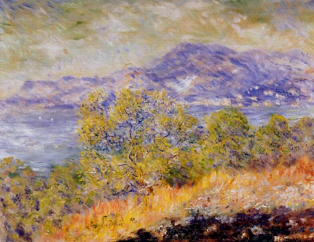 южные пейзажи < Вид на окрестности Вентимилии >:: Клод Моне, описание картины - Моне Клод (Claude Monet) фото