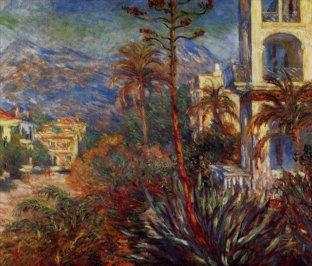 южные пейзажи < Виллы в Бордигере >:: Клод Моне, описание картины - Claude Monet фото