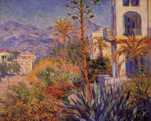 южные пейзажи < Виллы в Бордигере >:: Клод Моне, описание картины - Моне Клод (Claude Monet) фото