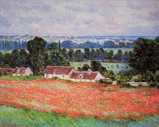 пейзаж  < Маковое поле в Живерни >:: Клод Моне, описание картины, плюс статья про подарки их приобретение и перевозку и пр. - Моне Клод (Claude Monet) фото
