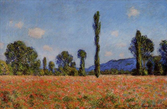 пейзаж  < Маковое поле >:: Клод Моне, описание картины - Claude Monet фото