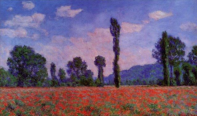 пейзаж Маковое поле в Живерни :: Клод Моне, описание картины - Claude Monet фото