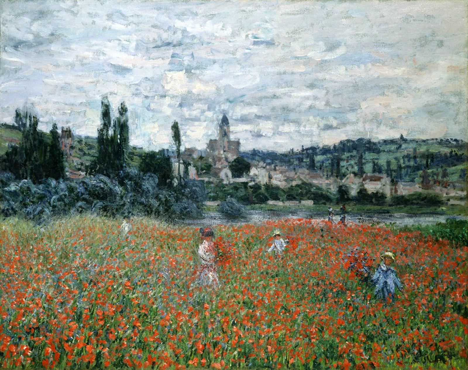 пейзаж  Маковое поле близ Ветёя :: Клод Моне - Моне Клод (Claude Monet) фото