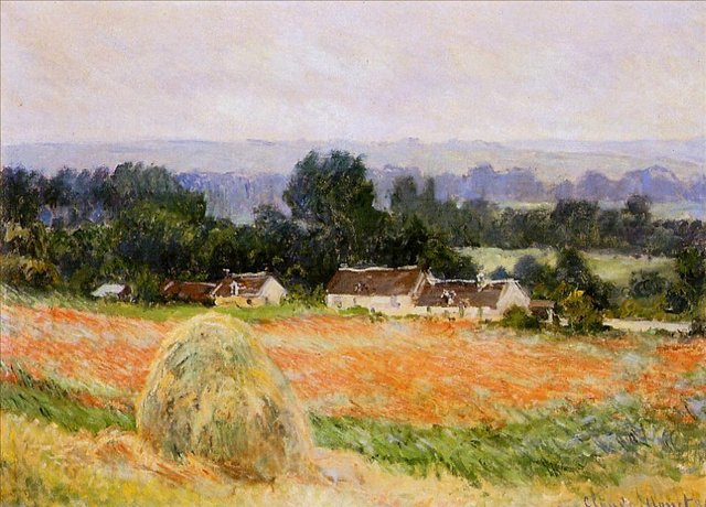 пейзаж  < Стог сена >:: Клод Моне, описание картины - Claude Monet фото