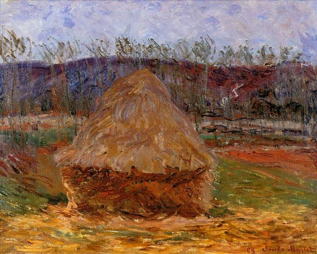 пейзаж Стог сена в Живерни :: Клод Моне, описание картины - Claude Monet фото