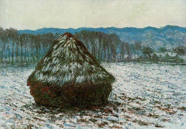 пейзаж Стог сена :: Клод Моне, описание картины - Claude Monet фото