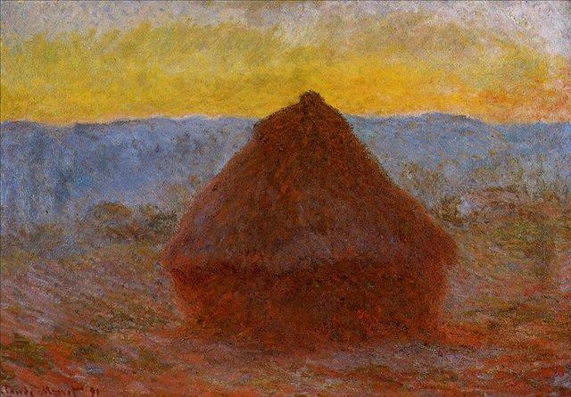 пейзаж < Стог сена >:: Клод Моне, описание картины - Моне Клод (Claude Monet) фото