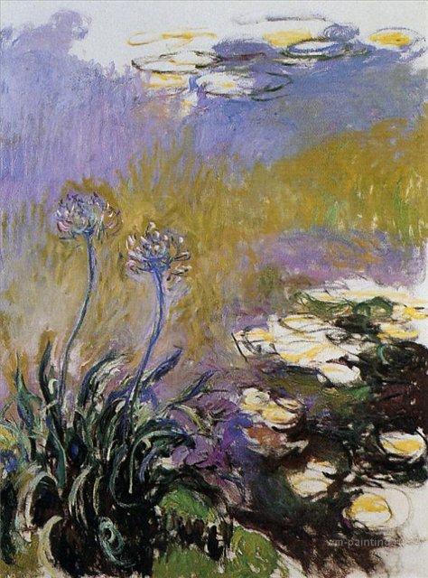 цветы Агапанатусы :: Клод Моне, описание картины - Claude Monet фото