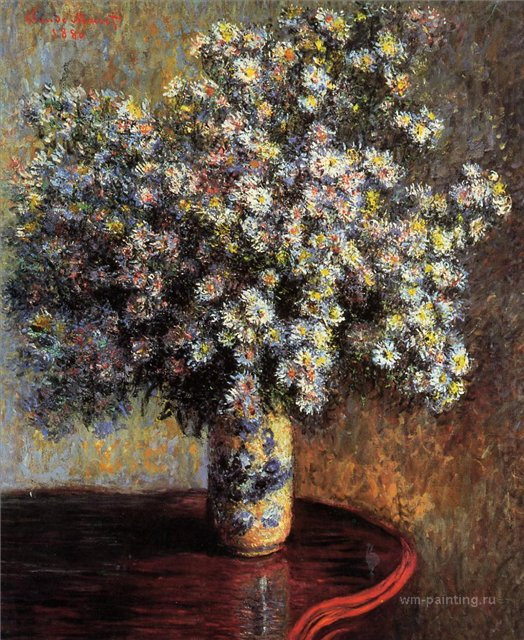 цветы < Астры >:: Клод Моне, описание картины - Claude Monet фото