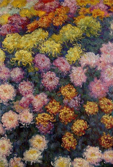 цветы < Хризантемы >:: Клод Моне, описание картины - Моне Клод (Claude Monet) фото